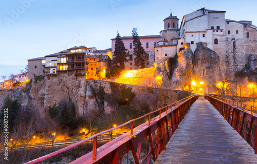 Saint Paul bridge and Hanging houses in Cuenca