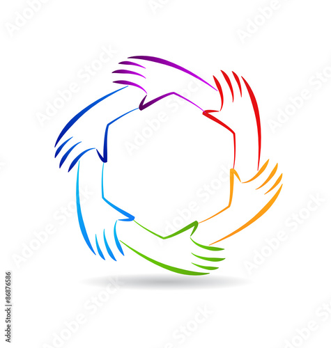 Teamwork Unity Hands Logo Identity Buy This Stock Vector And Explore Similar Vectors At Adobe Stock Adobe Stock