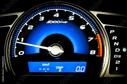 Photo  Modern car speedometer