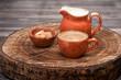 cup coffee espresso with sugar and milk