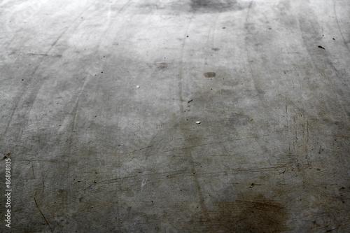 Photo sur Toile Brick wall Concrete floor