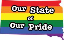 South Dakota Gay Pride Vector State Sign