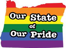 Oregon Gay Pride Vector State Sign