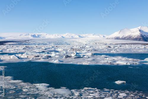 Papiers peints Arctique Jokulsarlon, Glacial lake, Iceland during winter