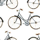 Wzór rowerów akwarela - 86906374