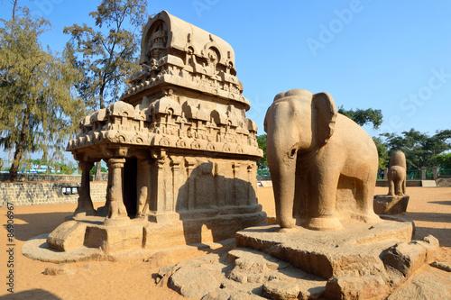 Valokuva  Five Rathas in Mahabalipuram,India