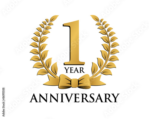 anniversary logo ribbon wreath 1 buy this stock vector and explore similar vectors at adobe stock adobe stock anniversary logo ribbon wreath 1 buy