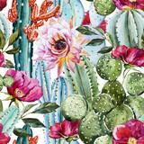 Watercolor cactus pattern - 86911786