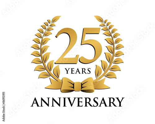 Anniversary logo ribbon wreath 25 buy this stock vector and anniversary logo ribbon wreath 25 altavistaventures Image collections