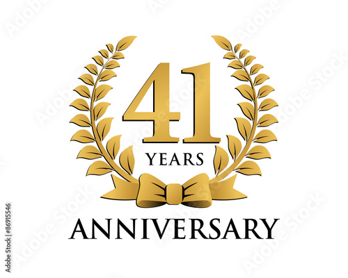 Fotografia anniversary logo ribbon wreath 41