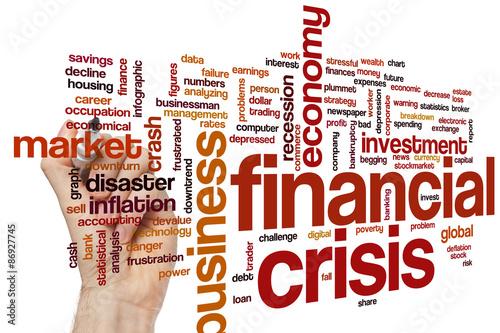 Photo  Financial crisis word cloud