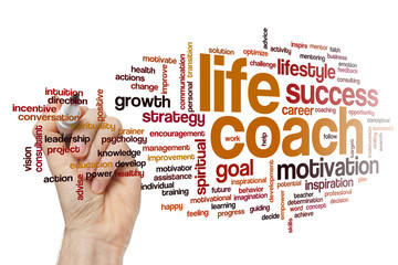FototapetaLife coach word cloud