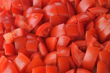 Chopped tomatoes pieces