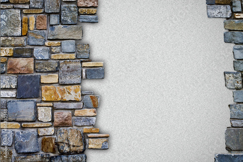 Fototapeta background stone wall with white copy space
