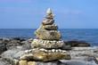 Pyramid of sea stones