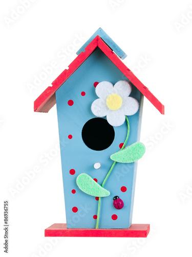 Slika na platnu Bird house isolated on white background