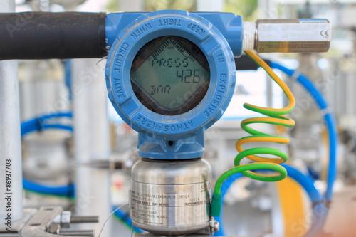 Fotografering Pressure transmitter indicator