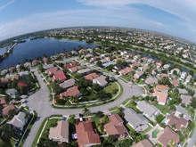 Suburban Homes In Florida Aerial