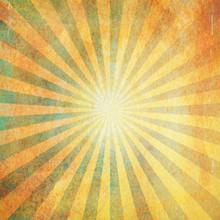 Grunge Vintage Sunburst Background And Texture