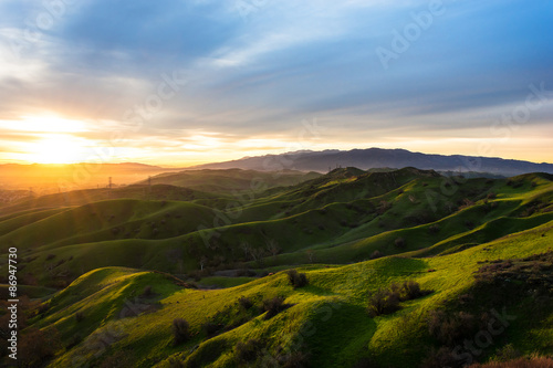 Canvas Prints Hill rolling green hills