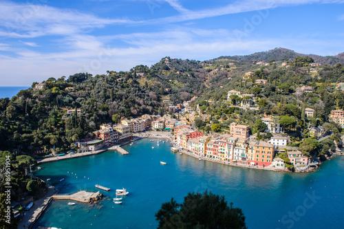Photographie  Aerial panorama of Portofino, Italy