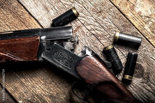 Poster Chasse Shotgun, Hunting, Gun.