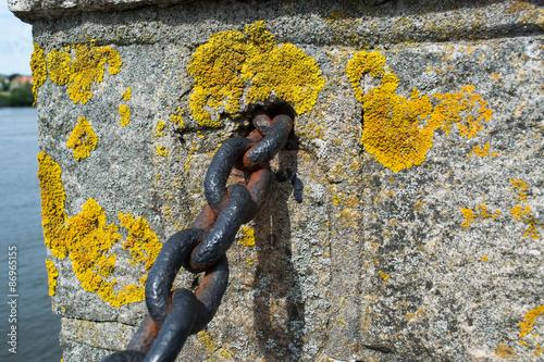 Fotografie, Obraz  Řetěz na stěně Fortess