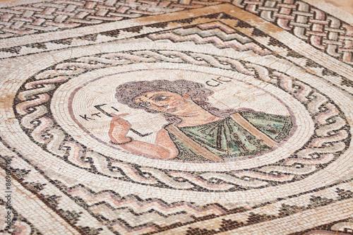 Foto op Plexiglas Cyprus Ancient religious mosaic in Kourion, Cyprus