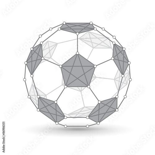 Canvastavla  Soccer ball