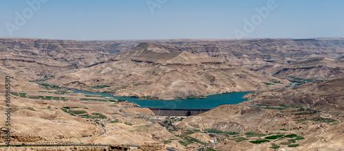 Spoed Foto op Canvas Cappuccino Dead Sea (Aerial view), Jordan
