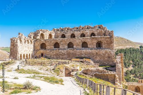 Poster Maroc Kerak Castle, a large crusader castle in Kerak (Al Karak) in Jordan.