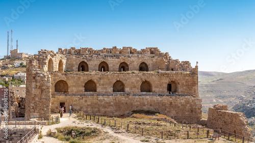 Poster Maroc Part of the Kerak Castle, a large crusader castle in Kerak (Al Karak) in Jordan.