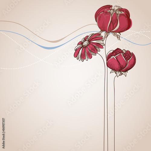 Keuken foto achterwand Abstract bloemen Flower background festive card for various events