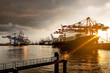 canvas print picture - Hamburg Harbor