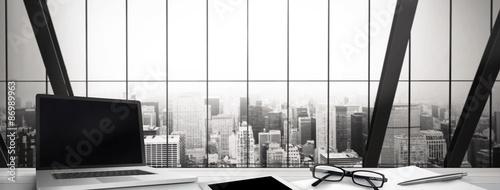 Fotografie, Obraz  Composite image of desk
