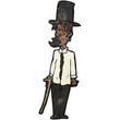 cartoon untidy gentleman