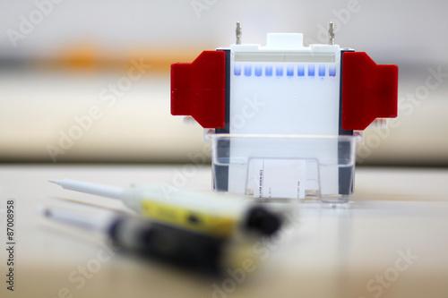 Gel for electrophoresis Fototapet