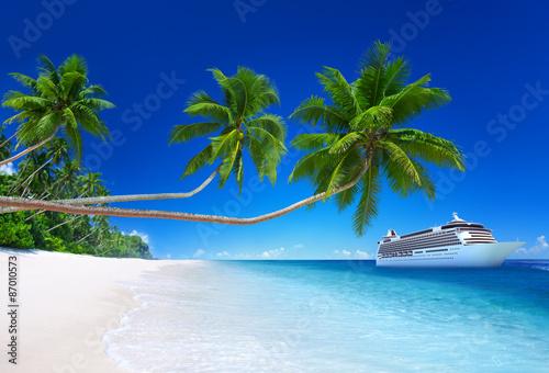 Staande foto Strand Tropical Paradise Beach Cruise Ocean Concept