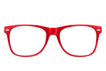 Front View Of Red Spectacles I...