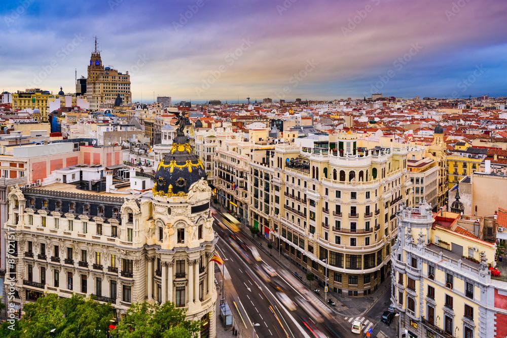 Fototapety, obrazy: Madrid Cityscape