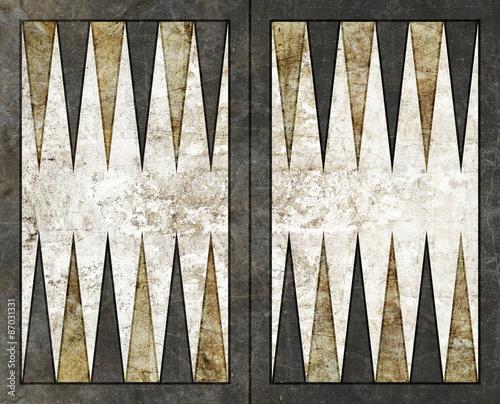 backgammon background empty board table Canvas-taulu