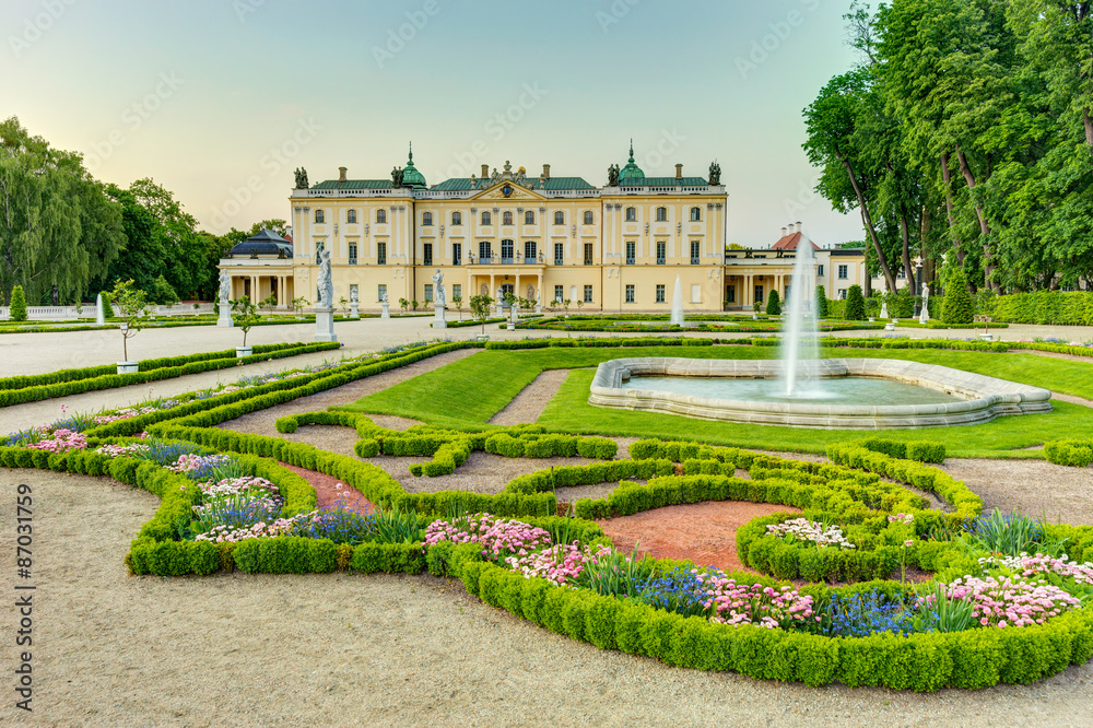 Fototapeta Garden in the Branicki Palace Bialystok Poland