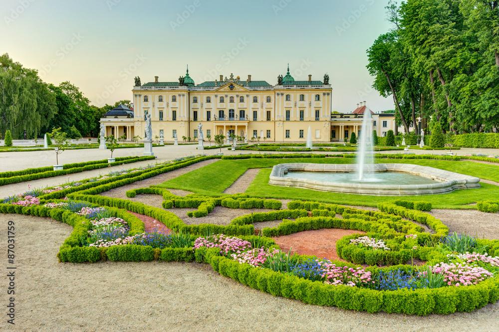 Garden in the Branicki Palace Bialystok Poland