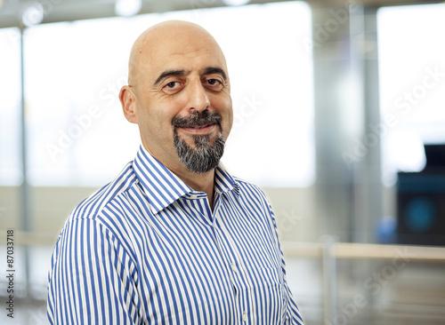 plakat Portret mężczyzny uśmiechnięta