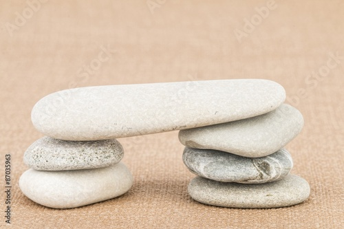 Photo sur Plexiglas Zen pierres a sable Pile stones - Stock image macro.