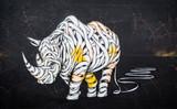 Fototapeta Teenage - Rhinoceros tag