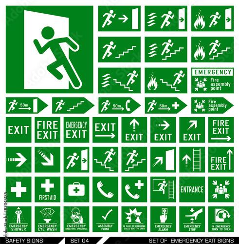 Fotografija Set of safety signs