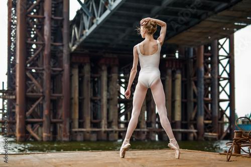 Valokuvatapetti Ballet on a rusty platform