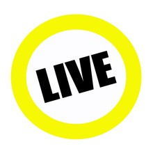 LIVE Back Stamp Text On White Background