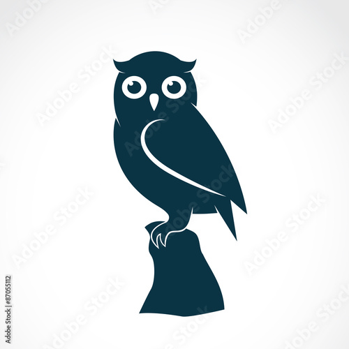 Deurstickers Uilen cartoon Vector image of an owl on white background